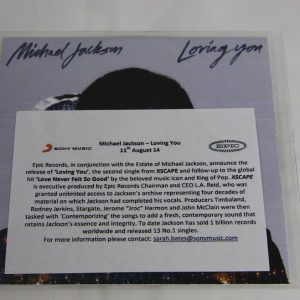 Loving you - CD single - UK - Acetate